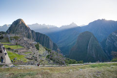 Machu Picchu - Peru. Sunrise in the lost city of the Incas Royalty Free Stock Photography