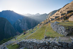 Machu Picchu - Peru. Sunrise in the lost city of the Incas Royalty Free Stock Image