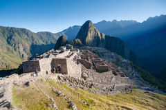 Machu Picchu - Peru. Sunrise in the lost city of the Incas Stock Image