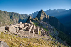 Machu Picchu - Peru. Sunrise in the lost city of the Incas Stock Photo