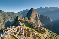 Machu Picchu - Peru. Sunrise in the lost city of the Incas Royalty Free Stock Photos