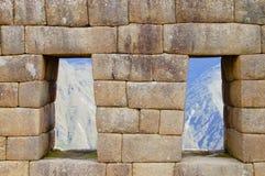 Machu Picchu - Peru. The Temple of the Three Windows - Machu Picchu - Peru stock image