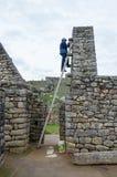 Machu Picchu in Peru. UNESCO World Heritage Site Stock Photos