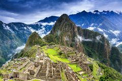 Machu Picchu, Peru. UNESCO World Heritage Site. One of the New Seven Wonders of the World Stock Photo
