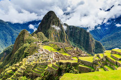Machu Picchu, Peru. UNESCO World Heritage Site. One of the New Seven Wonders of the World Royalty Free Stock Images