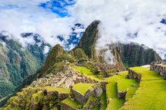 Machu Picchu, Peru. UNESCO World Heritage Site. One of the New Seven Wonders of the World Stock Photography