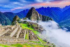 Machu Picchu, Peru. UNESCO World Heritage Site. One of the New Seven Wonders of the World Stock Image