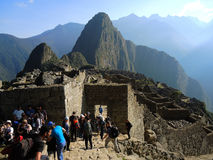 Machu Picchu, Peru. View of the ancient Inca city in the Andes, on July 13, 2015 in Machu Picchu, Peru. One of the New Seven Wonders of the World and UNESCO royalty free stock photo