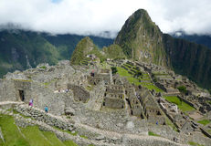 Machu Picchu, Peru. View of the ancient Inca city on a cloudy day Royalty Free Stock Photo