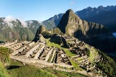 Machu Picchu Peru. View of the city of Machu Picchu Peru royalty free stock photo