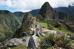 Machu Picchu Peru, ancient area. View of the city of Machu Picchu Peru, ancient area stock photos