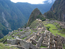 Machu Picchu, Peru. A view from the top of Machu Picchu, Peru Stock Photo