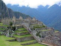 Machu Picchu, Peru. A view from the top of Machu Picchu, Peru stock image