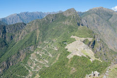 Machu Picchu - Peru. View of Machu Picchu from the top of Wayna Picchu Stock Images