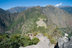 Machu Picchu - Peru. View of Machu Picchu from the top of Wayna Picchu Royalty Free Stock Photos