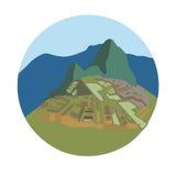 Machu Picchu, peruanisches historisches Schongebiet vektor abbildung