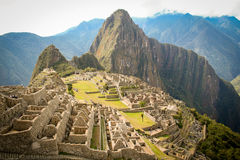 Machu Picchu, a Peruvian Historical Sanctuary in 1981 and a UNES Royalty Free Stock Photos