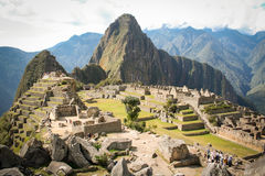 Machu Picchu, a Peruvian Historical Sanctuary in 1981 and a UNES Stock Images