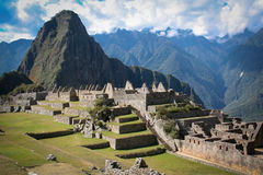 Machu Picchu, a Peruvian Historical Sanctuary in 1981 and a UNES Royalty Free Stock Photo