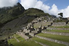 Machu Picchu, a Peruvian Historical Sanctuary in 1981 and a UNESCO World Heritage Site in 1983. One of the New Seven Wonders of the World royalty free stock photos