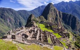 Machu Picchu, a Peruvian Historical Sanctuary in 1981 and a UNESCO World Heritage Site in 1983. One of the New Seven Wonders of Stock Photography