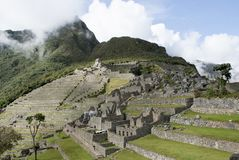 Machu Picchu, a Peruvian Historical Sanctuary in 1981 and a UNESCO World Heritage Site in 1983. One of the New Seven Wonders of the World stock photos