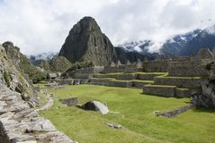 Machu Picchu, a Peruvian Historical Sanctuary in 1981 and a UNESCO World Heritage Site in 1983. One of the New Seven Wonders of the World stock photography