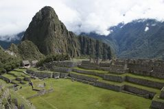 Machu Picchu, a Peruvian Historical Sanctuary in 1981 and a UNESCO World Heritage Site in 1983. One of the New Seven Wonders of the World royalty free stock photography