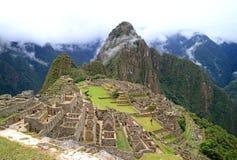 Machu Picchu on a Rainy Day, UNESCO World Heritage Site in Cusco Region, Urubamba Province, Peru. Archaeological site stock image