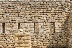 Machu Picchu rock wall, Cusco, Peru, South America. A UNESCO World Heritage Site Stock Images