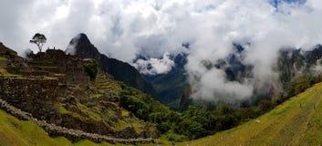 Machu Picchu, rovine di Incnca nel peruviano le Ande fotografia stock