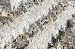 Machu Picchu - row of houses royalty free stock images