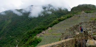 Machu Picchu, Ruinen, Peru, 02/08/2019 lizenzfreie stockfotos