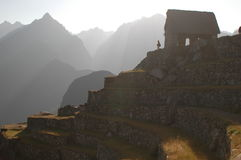 Machu Picchu ruins. House of the Guardians from Machu Picchu ruins in Peru Royalty Free Stock Image