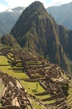 Machu Picchu Ruins. Ruins of Inca´s lost city Machu Picchu imbeeded in rough mountainscape Royalty Free Stock Photos
