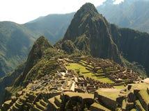 Machu Picchu ruins. View on ruins of Machu Picchu Stock Photography