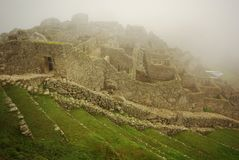Machu Picchu ruins in the early morning Royalty Free Stock Photography