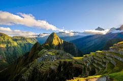Machu Picchu, Ruins, Mountains Royalty Free Stock Image