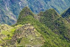 Machu Picchu ruins. Ruins of Machu Picchu in Peru Stock Photos