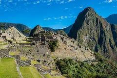 Machu Picchu ruins peruvian Andes  Cuzco Peru Stock Image