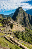 Machu Picchu ruins peruvian Andes  Cuzco Peru Royalty Free Stock Photos