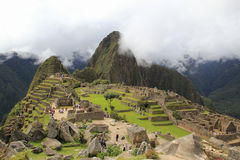 Machu Picchu's clouds stock image