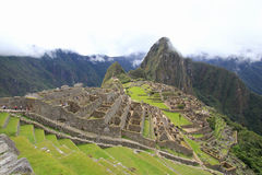 Machu Picchu's houses and terraces Stock Photography