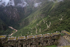 Machu Picchu's road & Urubamba valley Royalty Free Stock Images