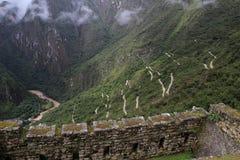 Machu Picchu's road & Urubamba valley Royalty Free Stock Images