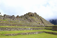 Machu Picchu's stone terraces Stock Images