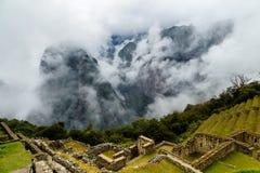 Machu Picchu, ancient archeological site, Peru Royalty Free Stock Photos