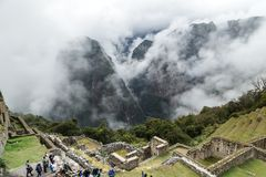 Machu Picchu, ancient archeological site, Peru Royalty Free Stock Photography