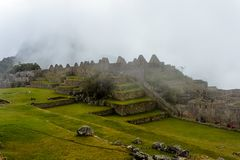 Machu Picchu, ancient archeological site, Peru royalty free stock image