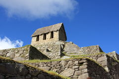 Machu Picchu's Watchman's Hut Stock Images